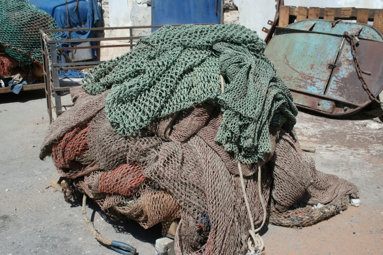 colored fishing nets